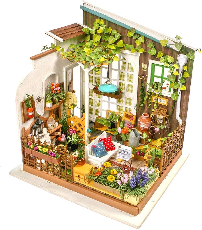 Evav Puppenhaus Miniatur DIY Haus Kit  Mini Holz Modellbau Spielzeug Freunde, Liebhaber und Familien (Miller's Sunshine Garden)