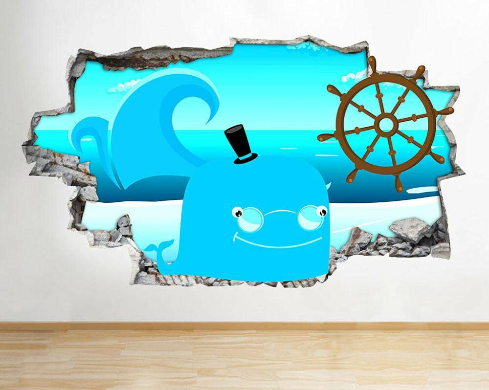 CSCH Wall Stickers Murals Great interest Fish Sticke Recommended Wave Ocean Kids Sea
