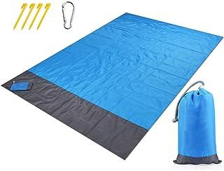 Beach Blanket Mat, 79''×83'' Beach Blankets Towel Waterproof Sand Proof, Picnic Blanket Mat Lightweight Beach Accessories ...
