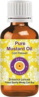 Deve Herbes Pure Mustard Oil (Brassica juncea) 100% Natural Therapeutic Grade Cold Pressed 30ml (1.01 oz)