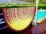 Überwurf, Strandtuch, Yogamatte, indisches Mandala, rund, Baumwolle, Tischdecke Strandtuch, runde Yogamatte, Schal, 182,9cm Strand Freizeit, Picknick rot