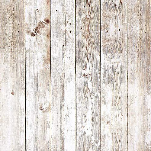 Grau Holzmaserung Klebefolie Selbstklebend Kontaktpapier Wandaufkleber Holz Streifen Wandpapier Tapete Holzoptik für Wand Möbel Vinyl 45 cm x 300 cm
