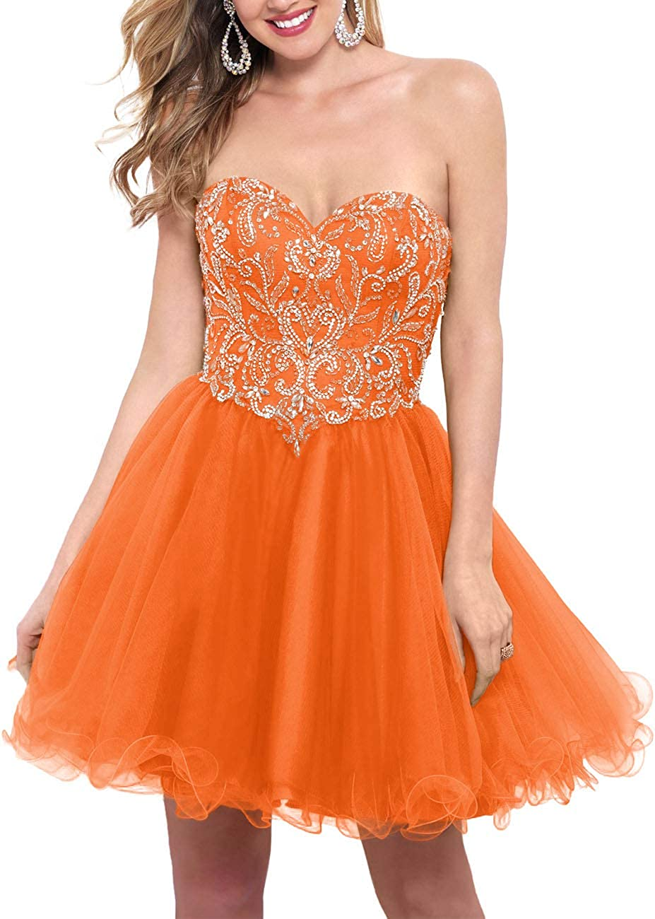 Womans Homecoming Dresses Short Prom Gowns Beading Glitter Vintage Teens Cover up Tulle Formal Party