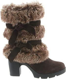 knee high furry boots