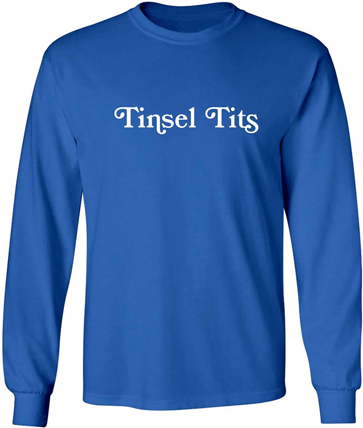 Tinsel Tits Adult Long Sleeve T-Shirt in Royal - XXXX-Large