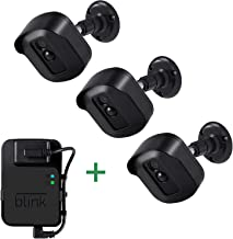 Blink Xt2 Wall Mount Bracket, 3 Pack Full Weather Proof Housing/Mount with Blink Sync Module Outlet Mount for Blink Xt2/Xt Indoor Outdoor Cameras Security System (Black)