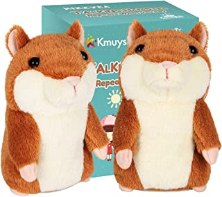 KMUYSL Bigger Talking Hamster - Repeats What You Say - Interactive Stuffed Plush Animal Talking Toy - Early Educational To...
