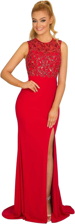 New Vogue Women's Sexy Long Jersey Handbeading Evening Prom Dress