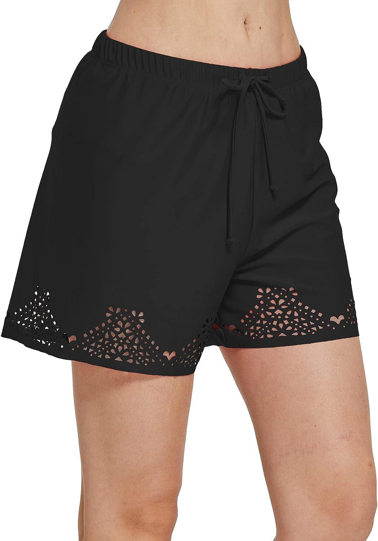ChinFun Womens Shorts Plus Size High Waisted Tankini Swimwear Bottom Boardshorts