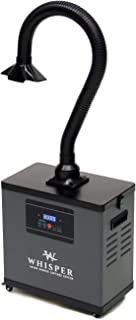 The Whisper Salon Source Capture System for Lash Artists - Gray - Single Extraction Arm