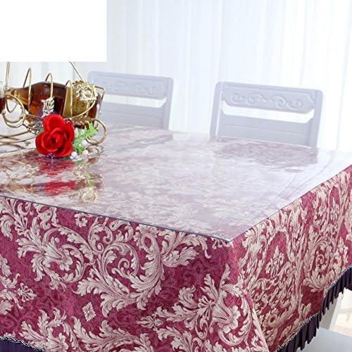 Pvc,transparente tischdecke Weißglas,wasserdicht,anti-Öl-tisch tuch plastiktisch mat crystal platte couchtisch pad-A 80x135cm(31x53inch)