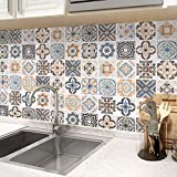 Fliesenaufkleber Selbstklebende Klebefolie 61x500cm Mosaikfliese Küchenfolie Dekofolie küchenrückwand Folie PVC Fliesensticker für Bad und Küche Tapete Fliesenfolie Kacheldekor