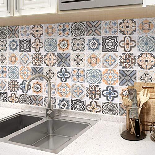 KINLO Fliesenaufkleber Selbstklebende Klebefolie 61x500cm Mosaikfliese Küchenfolie Dekofolie küchenrückwand Folie PVC Fliesensticker für Bad und Küche Tapete Fliesenfolie Kacheldekor