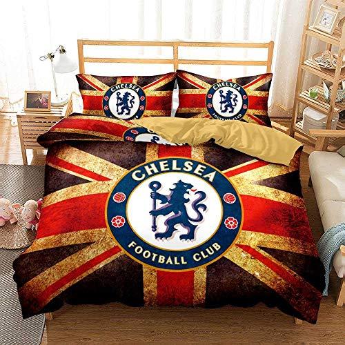 GuoDamei Duvet Cover Single Bed Size 135x200 cm Chelsea 2 pcs 100% Microfiber Bedding Set with Zipper Closure 1 Duvet Cover + 1 Pillowcase 50x75cm Ultra Soft Hypoallergenic
