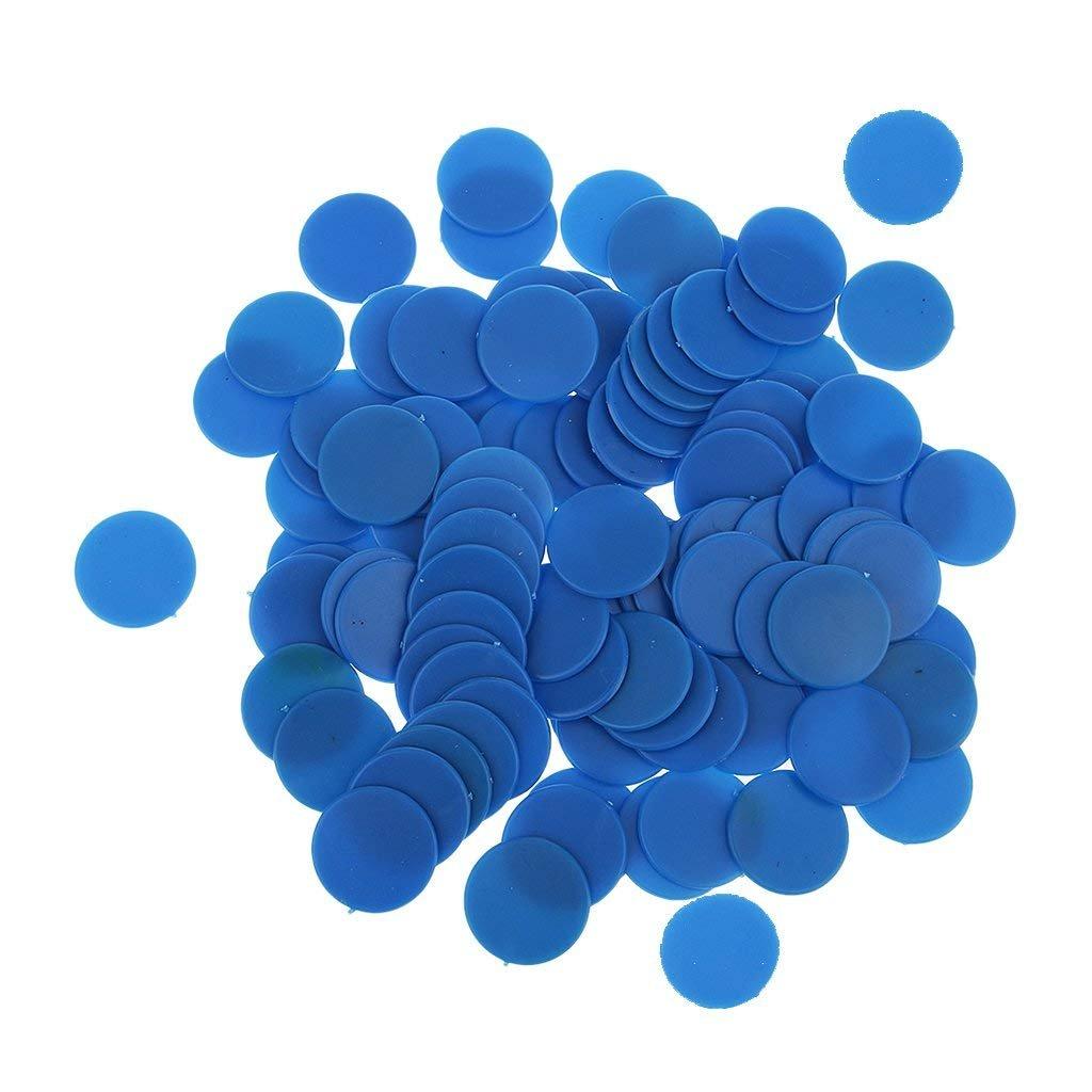Isuper 19mm Fichas de póker Póquer Chips,Contadores de Juego de Paneles de plástico Opaco parpadean Numerology enseñanza 100pcs Azul: Amazon.es: Juguetes y juegos