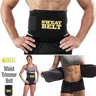 RZDJ Women Sweat Body Suit Sweat Belt Shaper Premium Waist Trimmer Belt Waist Trainer Corset Shapewear Slimming Vest Underbust (Color : Black)