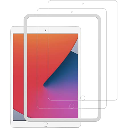 2枚セット NIMASO ガラスフィルム iPad 10.2 (8世代 / 7世代) 用 液晶 保護 フィルム ガイド枠付き