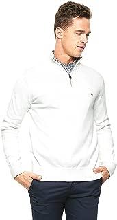 Mens Half-Zip Mock Neck Sweater