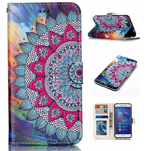 Litao-Case YH Funda para Huawei P9 Lite VNS-L31 VNS-L21 Funda Flip Cuero de la PU+ Cover Case de Silicona Protección Fija 9