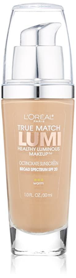 ケージによって会話型L'OREAL TRUE MATCH LUMI HEALTHY LUMINOUP MAKEUP WARM #W6 SUN BEIGE