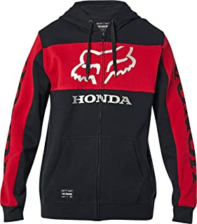 Fox Racing Men's Standard Honda Fleece Zip Hoody,Medium,Black/Red