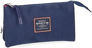 Pepe Jeans Cross Beauty Case, 22 cm, 1.32 liters, Blue (Azul)