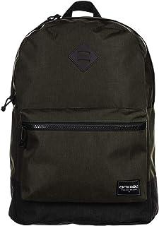 Animal Mens Traitor School College Two Strap Backpack Rucksack Bag - Olive 20LTR
