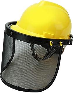 ZAIDEA メッシュバイザー 防災面 ヘルメット 作業 けが防止 通気性 草刈り 飛び石 保護 男女兼用
