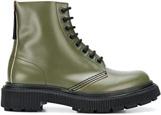 Luxury Fashion | Adieu Paris Men TYPE129MILITARY Green Leather Ankle Boots | Autumn-winter 19