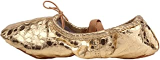 LPZ Zapatos de Baile Zapatos para niños Zapatos Blandos Gato Adulto Zapatos de Garra Zapatos para Danza del Vientre Zapatos de Ballet Zapatos para niños (Color : Oro, Tamaño : 34)