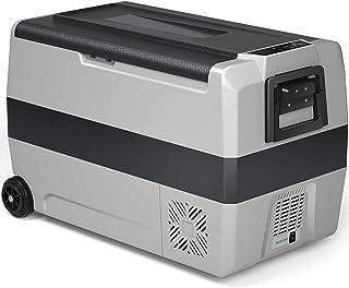 Bilkylskåp50l Portabel kompakt RV-frysskylare Dual Temperature Kontroll med LCD-panel Inbyggd handtag och hjul Kylskåp för...