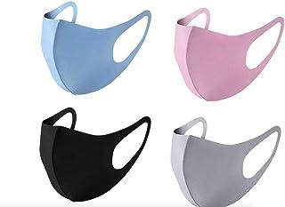 HOTOY 4pcs mondkapjes-wasbaar en herbruikbaar mondmasker-zonnescherm winddicht ijs zijde katoenen masker stofdicht-Geschik...