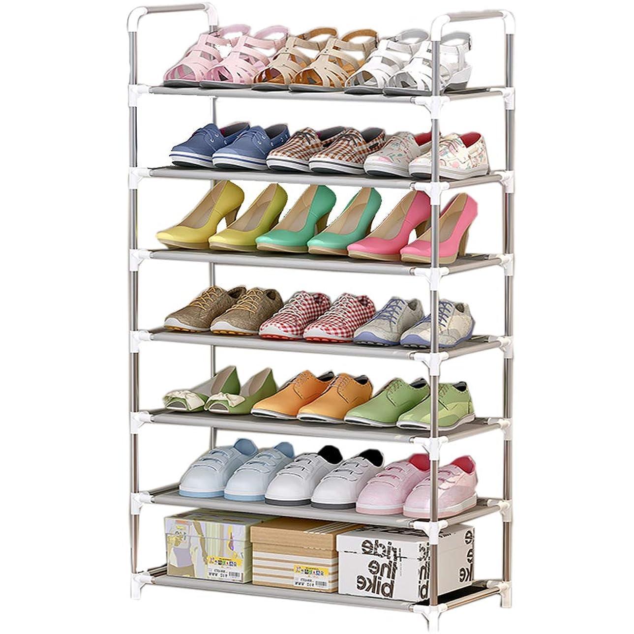 不幸専門首尾一貫したRara Life シューズラック 靴棚 玄関収納 下駄箱 靴箱 靴入れ 3段 4段 5段 6段 7段 (7段)