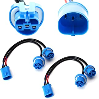 iJDMTOY (2) 9007 HB5 2-Way Merge Wires For Aftermarket Headlight Retrofit Conversion Use (1-Male 2-Famale)