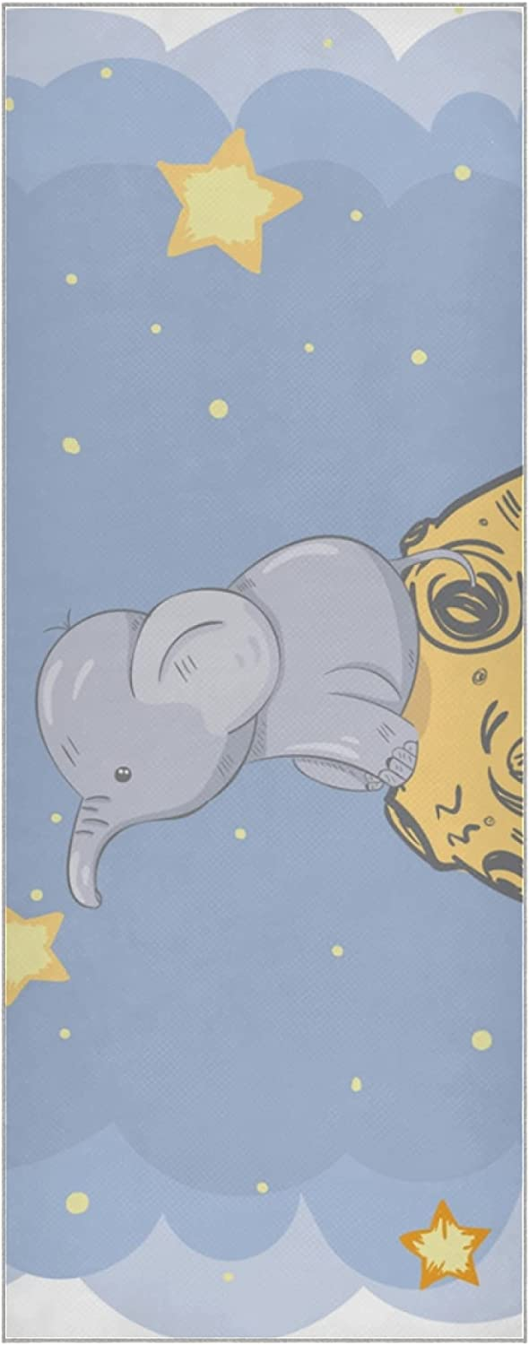 Hot Yoga 2021 new Towel Al sold out. Mat Cute Elephant Slip Animation Non Towels