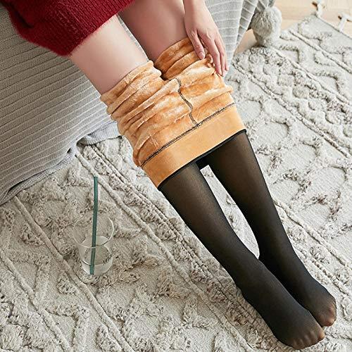 Leggings Casuales De MujerModa Mujer Leggings De Terciopelo Grueso De Malla Cálida De Cintura Alta Leggins Delgados para