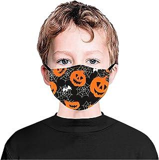 Padaleks 3PCS Halloween Face Madk with Adjustable Earloops, Reusable Washable Dustproof Madks for Kids Holiday Festival