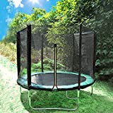 Greenbay 12FT Garden Trampoline Set With Jumping Mat Safety Net Enclosure Rain Cover