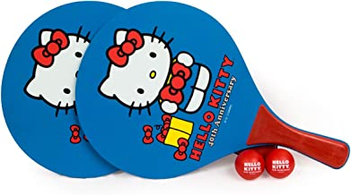 Hello Kitty Sports 40th Anniversary Beach Paddle Ball Set, Red/Blue/White