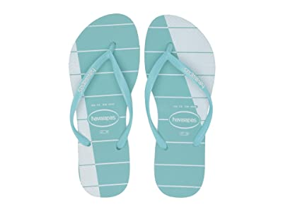 Havaianas Slim Trio Stripes (Ice Blue) Women