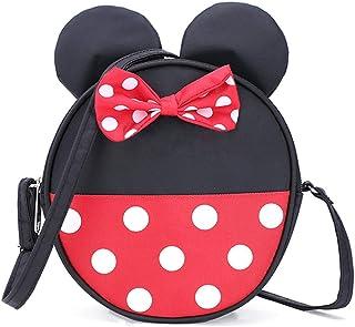 Cute Little Girls Crossbody Purse Toddler Cartoon Mouse Purse Wallet Bowknot Baby Crossbody Bag Kids Handbags