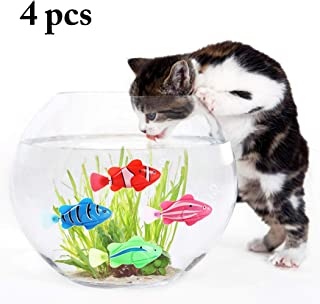 Legendog Cat Toy Water Activated LED Swimming Fish Toy with Aquatic Weed Screwdriver