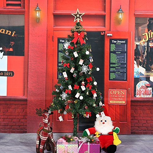 Tianliang04 Albero Di Natale Christmas Tree Set 120Cm/150Cm/180Cm Christmas Tree High-End Encryption Package,(5'10 ')
