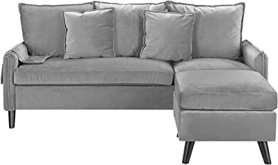 Amazon.com: Flash Furniture Bari Upholstered Sofa in Black ...