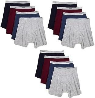 Fruit of the Loom Men's 12-Pack Assorted Boxer Briefs 100% Cotton Underwear