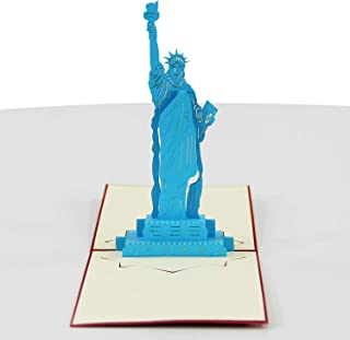 Jerry & Maggie - Pop Up Greeting Card - Statue of Liberty Card 3D Paper Greeting Thank You Card Laser Valentines Halloween Birthday Thanksgiving Couple For Kids Men Women