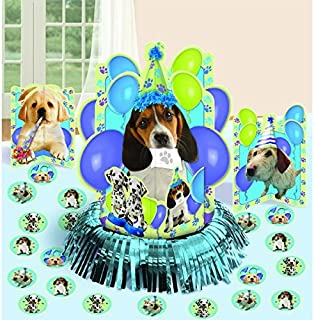 Cute Party Pups Table Decorating Kit Birthday Party Decorations,13.7