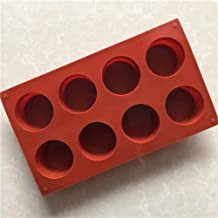 8 Hole Round Small Cylindrical Cup Cake Mold Silicone Aromatherapy Candle Mould Handmade Dessert Ice-Creams Baking Mold