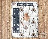 Personalized Blanket-Milestone Blanket Teepee, Month Blanket Arrows, Monthly Baby Blanket, Tribal Milestone Blanket, Baby Milestone Blanket Boy, Teepee, Arrows-Personalized Gifts