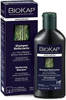 BIOKAP BioKap Anticaduta Shampoo Rinforzante, Shampoo per capelli con Tricofoltil e Bambù per irrobustire e rafforzare cap...